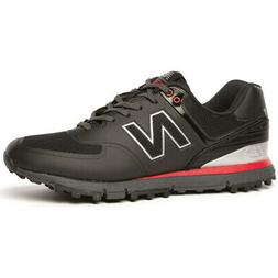 New Balance NBG 518 Spikeless Golf Shoes - Black/Red - 15 X-
