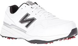 New Balance Men's NBG1701 Golf Shoe, White/Black, 9 4E US