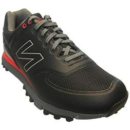 New Balance Mens Nbg518 Golf Shoes Black/Red D 10