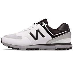 New Balance Men's nbg518 Golf Shoe, White/Black, 12 4E US