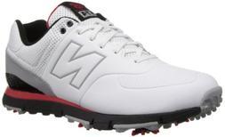 New Balance Men's NBG574 Golf Shoe,White/Red,11.5 D US