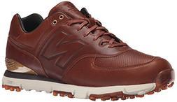 New Balance Men's NBG574LX Golf Shoe, Brown, 8.5 4E US