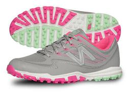 New Balance Women's nbgw1006 Golf Shoe, Grey/Pink, 6.5 B US