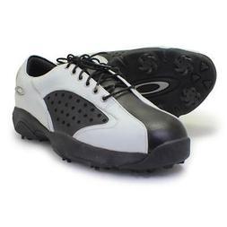 Oakley Neck Tye 2.0 White Black 7.5 US Mens Golf Casual Leat