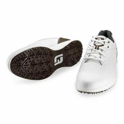 NEW FootJoy Arc SL Mens Spikeless Golf Shoes - White / Brown