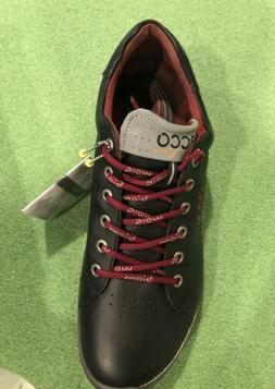 ECCO Men's Biom Hybrid 2 Hydromax Golf Shoe, Black/Brick, 46