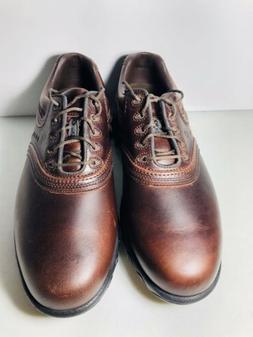 NEW Footjoy Contour Series Men's Brown Leather Golf Shoes