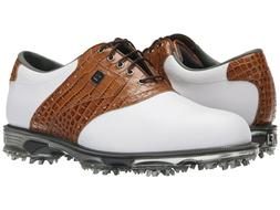 NEW FootJoy DRYJOYS TOUR  White/Brown/Croc Men's Golf Shoes