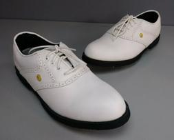 NEW DUNLOP MENS 9.5 WHITE GOLF SHOES CHAMP LITE WATE NWOB
