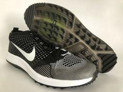 New Nike Flyknit Racer G Golf Black White Oreo Sz 11 Mens Sh