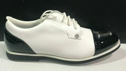 NEW G/Fore Cap Toe Gallivanter Black White Golf Shoes G4LC20