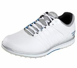 New SKECHERS GO GOLF ELITE 2 WATERPROOF 9 White/Gray/Blue Wo
