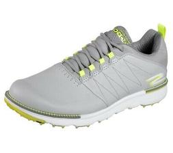 New Skechers- Go GOLF Elite V.3 Shoes- Grey/Yellow/Lime Size