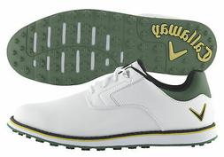 New Callaway Golf- 2018 La Jolla SL Shoes White/Green Size 1
