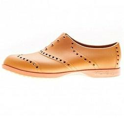 new golf brights shoes leather and orange