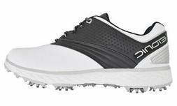 New Etonic- Difference™ Spiked Golf Shoes White/Black Size