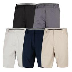 New Ashworth Golf Performance Solid Stretch Flat Front Short
