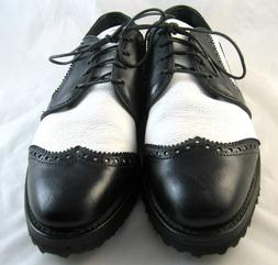 New Allen Edmonds Golf Shoes 5 D Black/White
