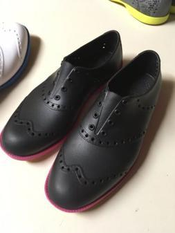 New Biion golf shoes Men 5 Women Sz 7 Black w Magenta