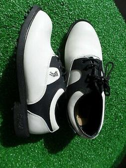ASHWORTH SPIKELESS GOLF SHOES LADIES BLCK & WHITE SIZE 5 M