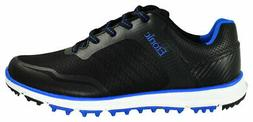New Etonic Golf- Stabilite Sport Shoes Black/Blue Size 12 Wi