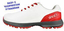 New Etonic Golf- Stabilizer Shoes White/Red Size 10.5 Medium