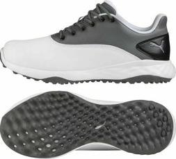 NEW Puma Grip Fusion Golf Shoes - White / Quiet Shade Black