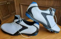 NEW Footjoy Hydrolite Golf Shoes, Leather, White/Black/Blue,