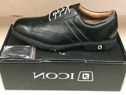 NEW FootJoy Icon 52276 Black Men's Golf Shoes 10.5M Were $35