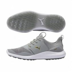 NEW Puma Ignite NXT Lace Golf Shoes - High Rise / Team Gold