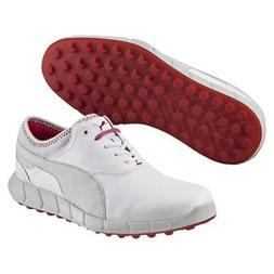 New Puma Ignite Women's Ladies Golf Shoes - White/Glacier Gr