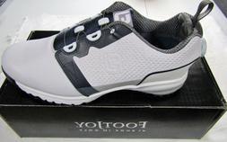New in Box Footjoy Contour Fit BOA Men's Golf Shoes, White &