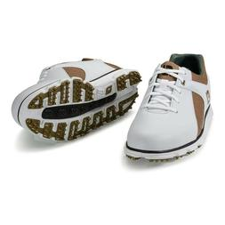 NEW IN BOX FOOTJOY PRO SL GOLF SHOES 53219 TAUPE WHITE YOU C