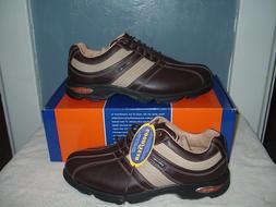 New in Box Etonic Stablite Mens 8.5W Brown Golf Shoes GSR1-3