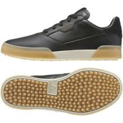 New Junior Adidas Adicross Retro Golf Shoes Black / Gold 4 M