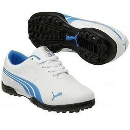 NEW JUNIOR'S PUMA BIOFUSION GOLF SHOE WHITE/BLUE ASTER 6 MED