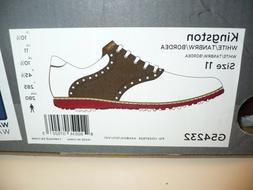 NEW Ashworth Kingston White/Tan Brown Size 11 2 Year Waterpr