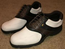 New Etonic Lites Plus Golf Shoes Mens 13 W White Brown Black