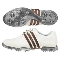 NEW ADIDAS MEN'S ADIPURE GOLF SHOES WHITE/BROWN 675519 - PIC