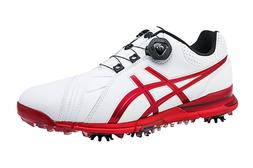 ASICS New Men's GEL-ACE PRO FG Dial Golf Shoes White Red Col