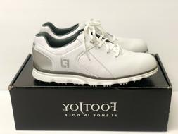 NEW Men's Footjoy Pro SL Spikeless Golf Shoes - White/Silver