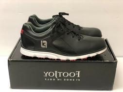 NEW Men's Footjoy Pro SL Spikeless Golf Shoes - Black / Size