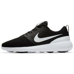 New Men's Nike Roshe G Golf Spikeless Shoes Black White 9.5