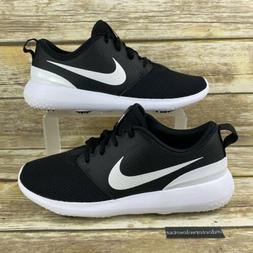 NEW Nike Men's Size 7.5 Roshe G Golf Shoes Black Metallic Wh