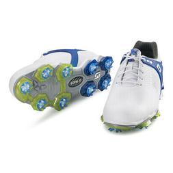 New Men's FootJoy Tour-S Golf Shoes - White/Blue - 55301