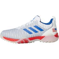 New Adidas Mens 2020 CODECHAOS Golf Shoes White/Blue/Scarlet