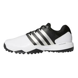 NEW MEN'S ADIDAS 360 TRAXION GOLF SHOES WHITE/BLACK Q4499