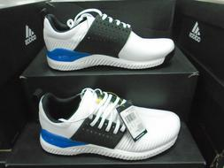 New Adidas Mens Adicross Bounce Golf Shoes White/Black/Blue