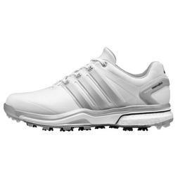 NEW MEN'S ADIDAS ADIPOWER BOOST WHITE/GREY GOLF SHOES Q46