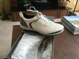 "NEW Ecco Mens BIOM G 2 Gortex GOLF Shoes  sz 45,  ""White/D"